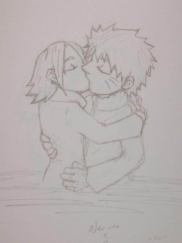 NaruSaku kiss <3