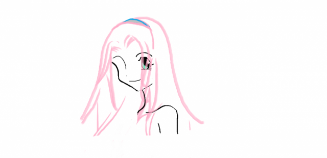 I drew this with a mouse. I was bored and it turned out okay