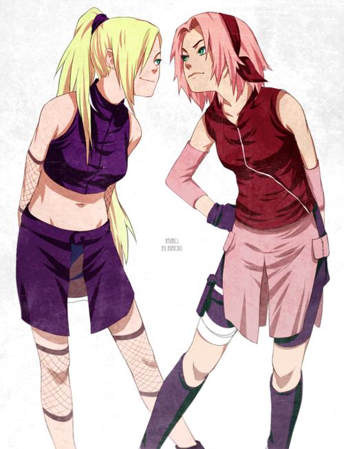 Sakura vs. Ino