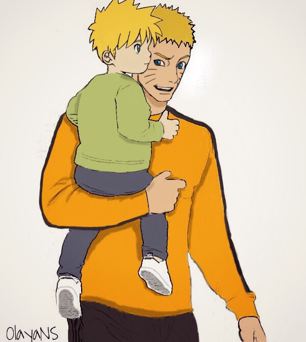 Shinachiku & his daddy !