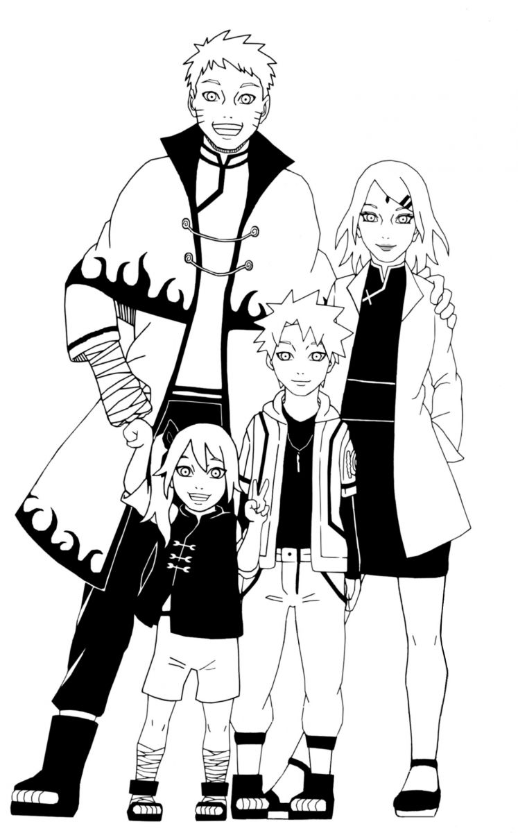 NaruSaku Family Portrait