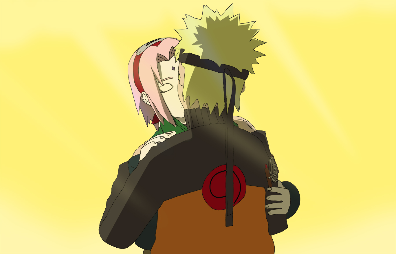 NaruSaku Kiss (Based on 3D Model)
