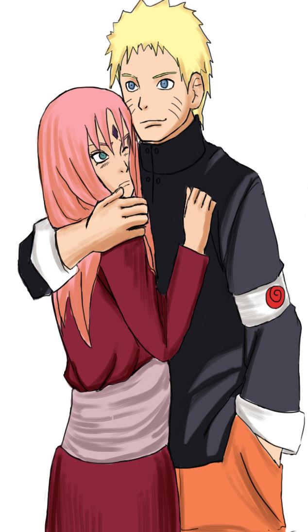 Naruto hugs Sakura