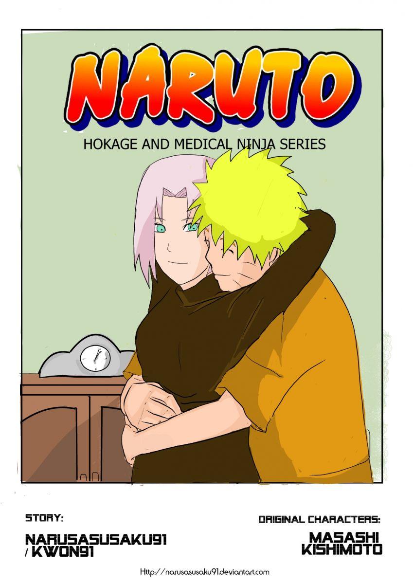 Naruto and Sakura hug