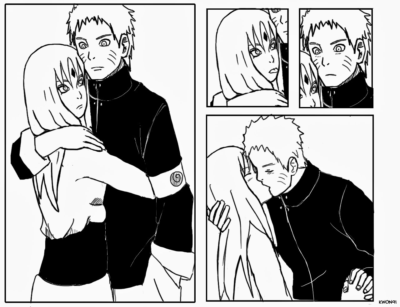 NaruSaku hug and kiss