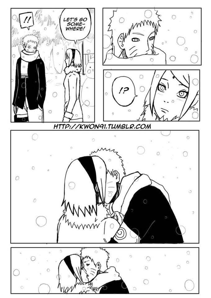 Kiss under snow